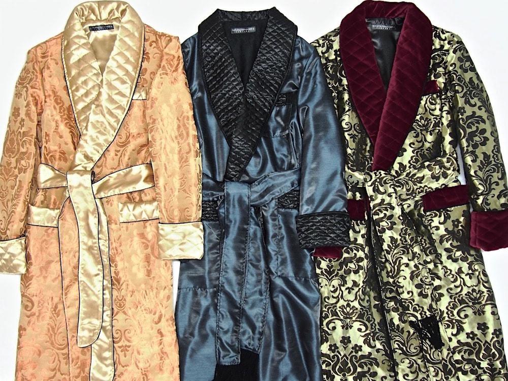 Mens Silk men silk robeBathrobes